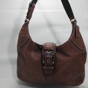 Coach Brown Leather Hobo Shoulder